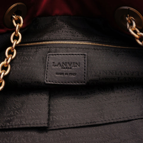 LANVIN LARGE QUILTED SATIN TOTE NEW WITH TAGS ON LEEF LUXURY AUTHENTIC DESIGNER CONSIGNMENT