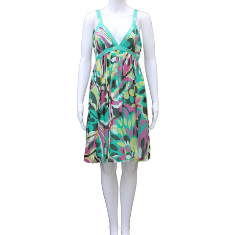 MILLY SLEEVELESS PATTERNED DRESS - leefluxury.com