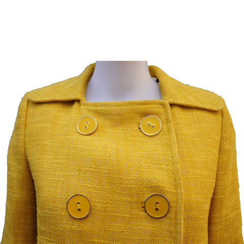 MILLY YELLOW TWEED CROPPED JACKET NEW WITH TAGS - leefluxury.com