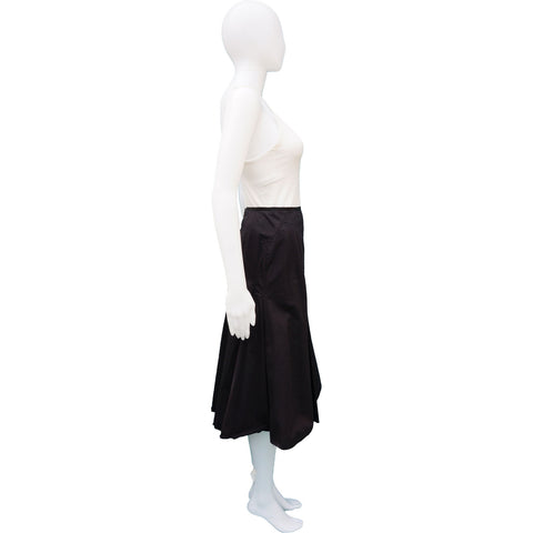 PRADA FLARED MIDI SKIRT On Leef luxury authentic designer resale consignment
