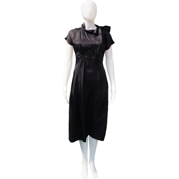 PRADA SILK WITH TIE NECK DRESS