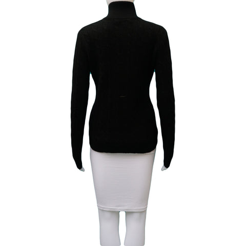 RALPH LAUREN BLACK CASHMERE SWEATER - leefluxury.com