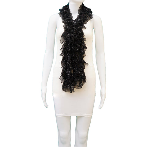RALPH LAUREN COLLECTION BLACK APOSTROPHE SCARF - leefluxury.com