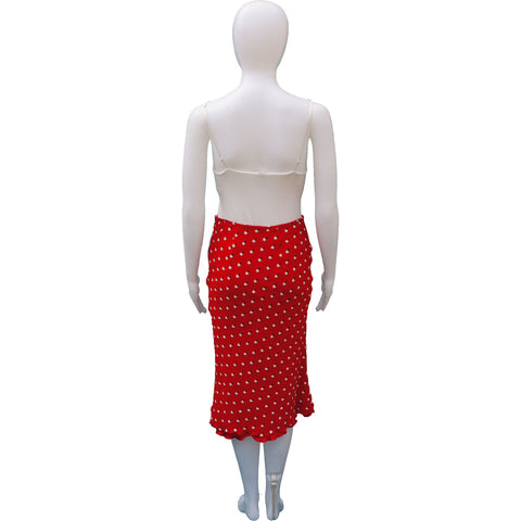 FLORAL BIAS CUT MIDI SKIRT - leefluxury.com