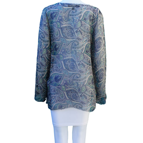 WINTER KATE BY NICOLE RITCHIE VINTAGE SHEER SILK TUNIC - leefluxury.com