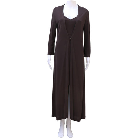 LIDA BADAY 2 PIECE JERSEY DRESS & COAT - leefluxury.com