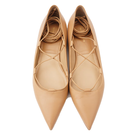 MICHAEL KORS COLLECTION POINTED TOE BALLET FLATS