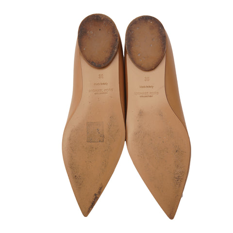 MICHAEL KORS COLLECTION POINTED TOE BALLET FLATS - leefluxury.com