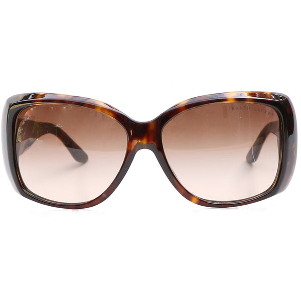 RALPH LAUREN PLAID SIDE ARMED LOGO SUNGLASSES