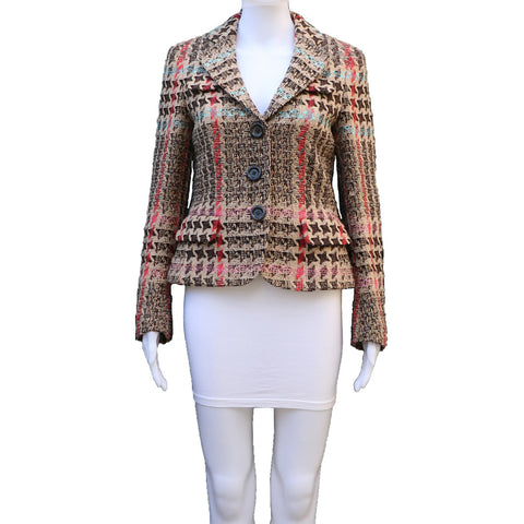 RENA LANGE MULTICOLOUR TWEED JACKET - leefluxury.com
