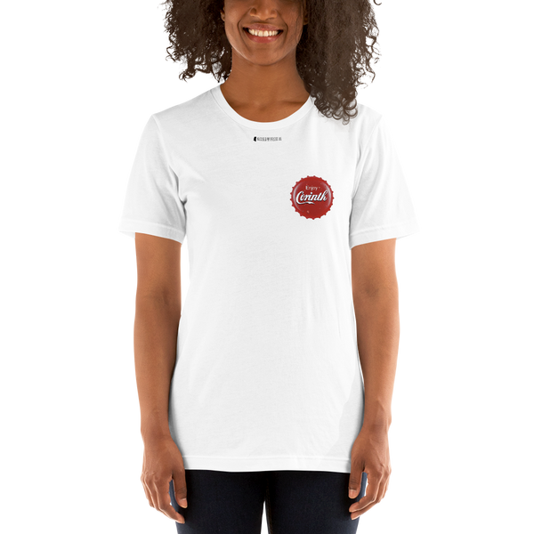 Enjoy Corinth Bottle Cap \ Pocket Design \  Bella + Canvas 3001™ Unisex Premium T-Shirt