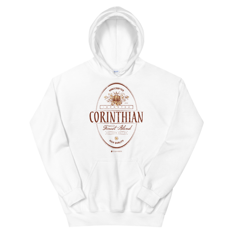 Imported Corinthian \ Distressed Print Design (red) \ Gildan™ 18500 Unisex Hooded Sweatshirt
