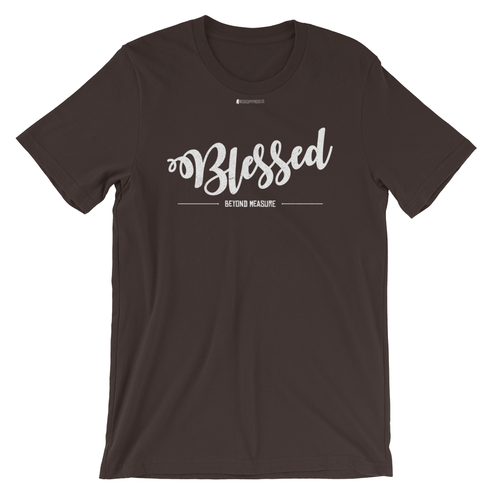 Blessed Beyond Measure \ Distressed Print Design \ Bella + Canvas 3001™ Unisex Premium T-Shirt