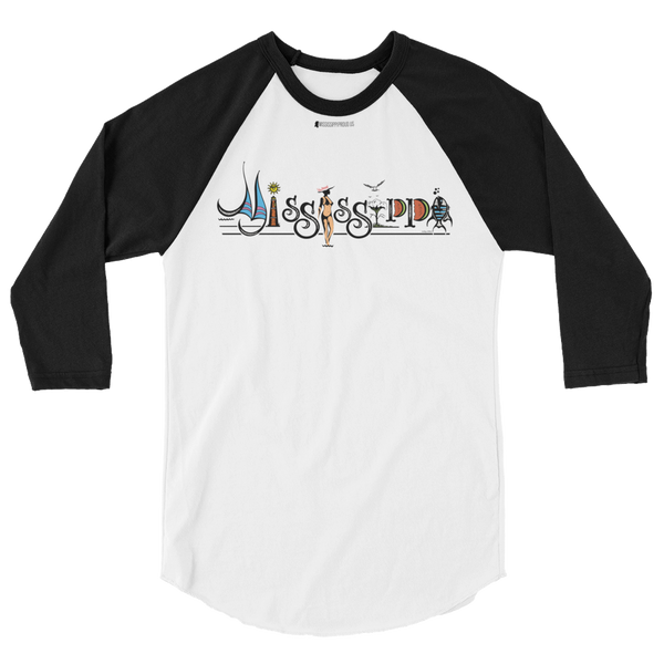 Mississippi by Larry Childers \ Tultex™ 245 Unisex Jersey Raglan Tee