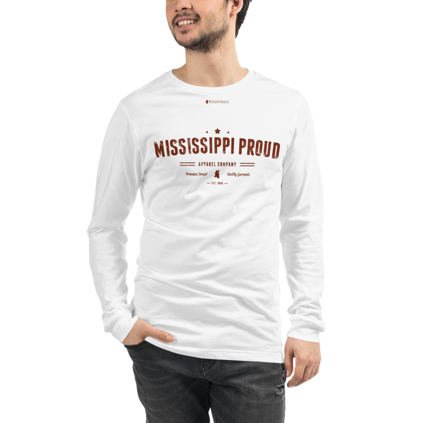 MISSISSIPPI PROUD \ Distressed Print Design \ Bella + Canvas™ Unisex Long Sleeve Tee