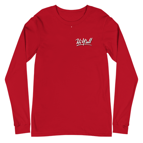 Hi Y'all! Corinth, Mississippi \ Bella + Canvas 3501™ Unisex Long Sleeve Tee
