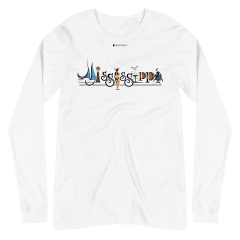 Mississippi by Larry Childers \ Bella + Canvas 3501™ Unisex Long Sleeve Tee