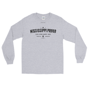 MISSISSIPPI PROUD \ Distressed Print Design \ Gildan™ 2400 Men's Long Sleeve Shirt