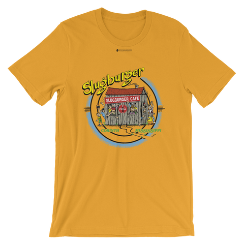 Slugburger Cafe by Larry Childers \ Bella + Canvas 3001™ Unisex Premium T-Shirt