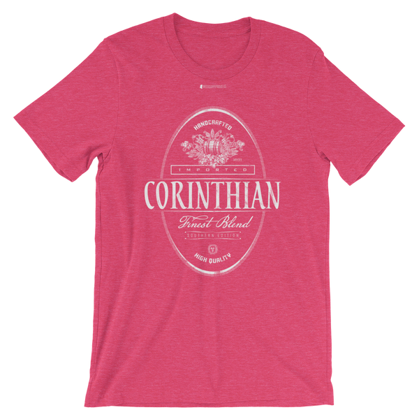Imported Corinthian \ Distressed Print Design (white) \ Bella + Canvas 3001™ Unisex Premium T-Shirt