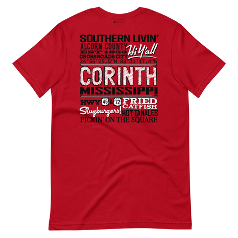 Hi Y'all! Corinth, Mississippi \ Bella + Canvas 3001™ Unisex Premium T-Shirt