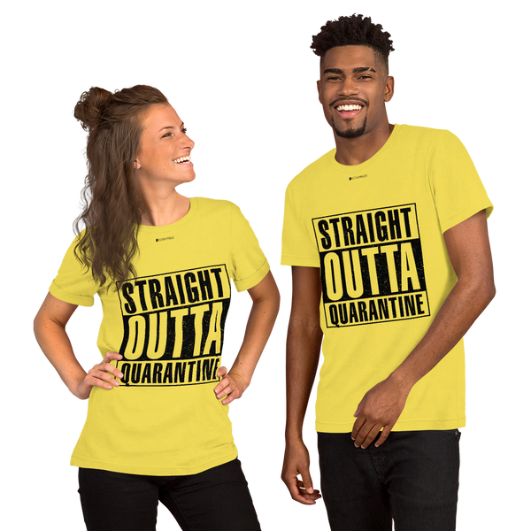 Straight Outta Quarantine \ Distressed Print Design \ Bella + Canvas 3001™ Unisex Premium T-Shirt