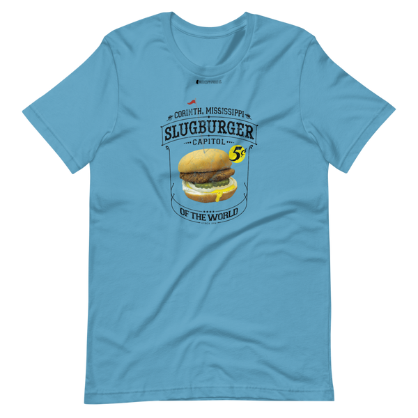 Slugburger Capitol of the World \ Distressed Print Design \ Bella + Canvas 3001™ Unisex Premium T-Shirt