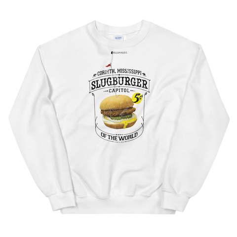 Slugburger Capitol of the World \ Distressed Print Design \ Gildan™ 18000 Unisex Sweatshirt