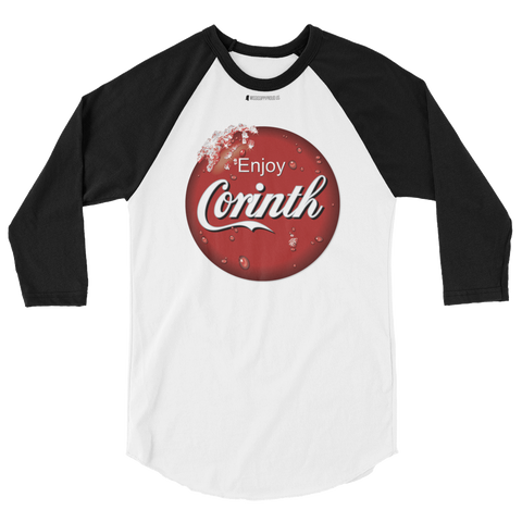 Enjoy Corinth \ Tultex 245 Unisex 3/4 Sleeve Raglan Shirt