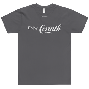 Enjoy Corinth \ Distressed Print Design \ American Apparel 2001 T-Shirt