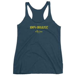 100% Organic \ Distressed Print Design \ Next Level™ Women's Racerback Tank