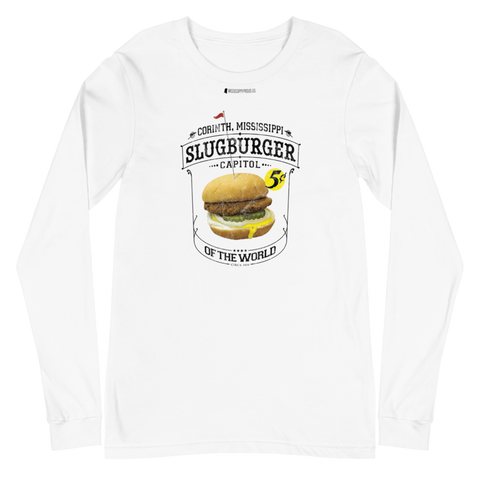 Slugburger Capitol of the World \ Distressed Print Design \ Bella + Canvas 3501™ Unisex Long Sleeve Tee