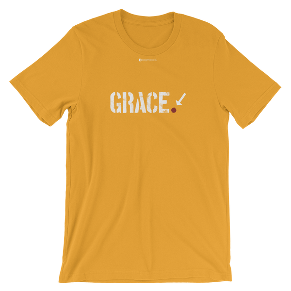 Grace. \ Distressed Print Design \ Bella + Canvas 3001™ Unisex Premium T-Shirt