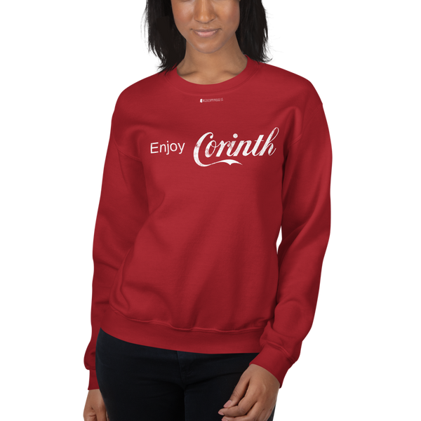 Enjoy Corinth \ Distressed Print Design \ Gildan™ 18000 Unisex Sweatshirt