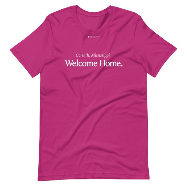 Corinth, Mississippi - Welcome Home \ Bella + Canvas 3001™ Unisex Premium T-Shirt