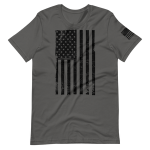 USA Flag \ Distressed Print Design \ Bella + Canvas™ Unisex T-Shirt