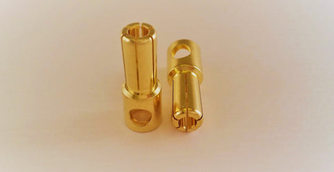 5.5mm bullet connector male - Vanda Electronics