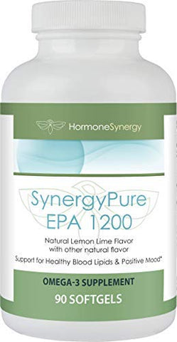 SynergyPure EPA 1200 (Eicosapentaenoic Acid Ethyl Ester) | 90 Softgels | 1200 mg of EPA per Softgel