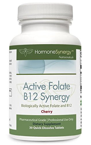 Active B12 Synergy with L-5-MTHF - 30 Lozenges  | Free Shipping!