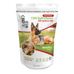 Living Pet Calming Dog Chews - Mobility - Bacon Flavor 300 mg