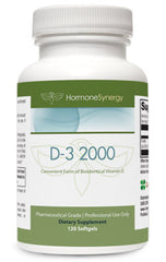 D3 - 2000 IU (120 ea. 2000 IU Softgels) | Free Shipping!