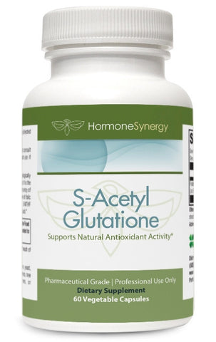 S-Acetyl Glutathione | 60 Acid-Resistant Veg. Capsules | Acetylated Form of Glutathione