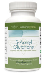 S-Acetyl Glutathione | 60 Acid-Resistant Veg. Capsules | Acetylated Form of Glutathione | Free Shipping!