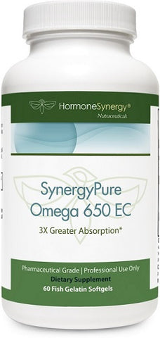 SynergyPure Omega 650 | 650 EC Fish Oil | 60 Softgels | Free Shipping!