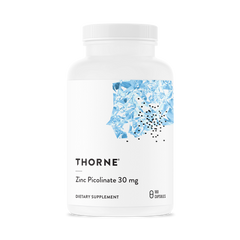 Zinc Picolinate 30 mg by Thorne - 180 Caps - Free Shipping! Limit (2) Per Customer