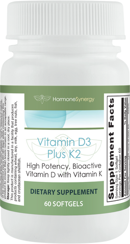 Vitamin D3 5000 IU Plus K2 60 Softgels