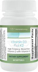 Vitamin D3 5000 Plus K2 | 2-in-1 Support* | High Potency, Bioactive | 5,000 IU D3 & 110 mcg K2 Menaquinone-7 (MK-7)
