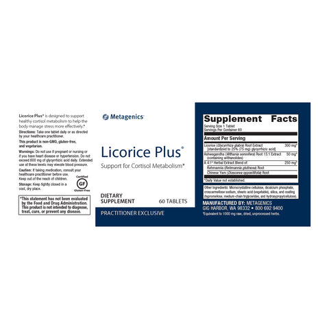 Licorice Plus® by Metagenics - Free Shipping!