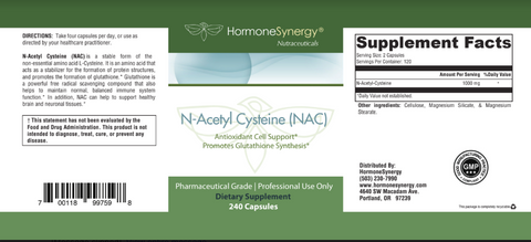 NAC N-Acetyl Cysteine | 1000 mg | Maximum Free Radical Protection*