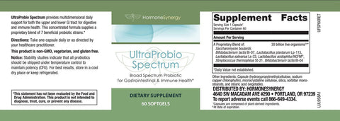 UltraProbio Spectrum | 30 Billion Broad Spectrum Probiotic | Free Shipping!